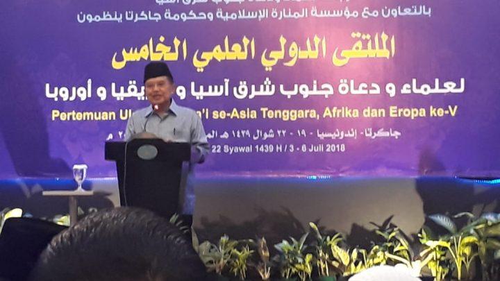 Wapres Jusuf Kalla Buka Pertemuan Ulama dan Da'i Internasional Ke-V
