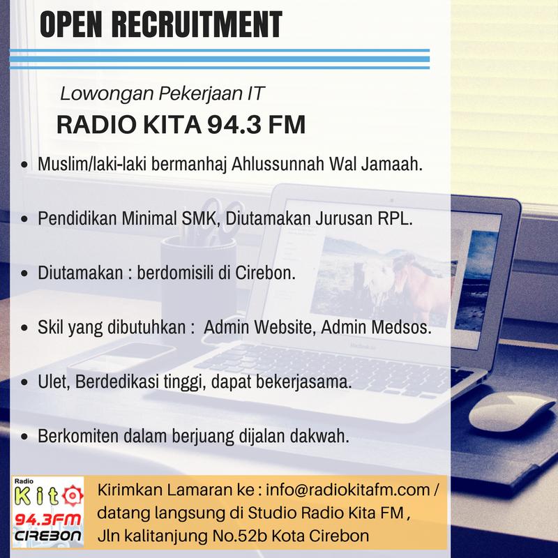 Lowongan Pekerjaan IT – Radio Kita FM