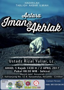 Tabligh Akbar Ustadz  Rizal Yuliar, Lc ahad 2 april 2017