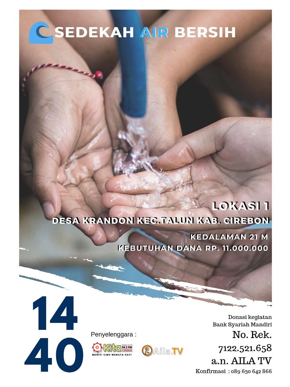 Donasi Air Bersih Untuk Desa Krandon Kab Cirebon