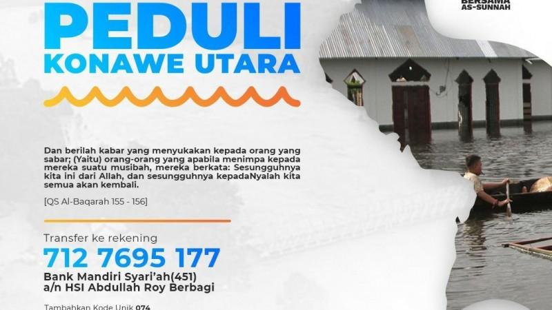 Urgent!! Dibutuhkan Donasi Dapur Umum Korban Banjir di Konawe Utara